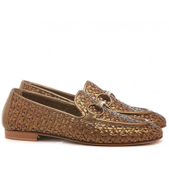 Poesie Veneziane Women's Shoes Loafers Leather Gold JJA12