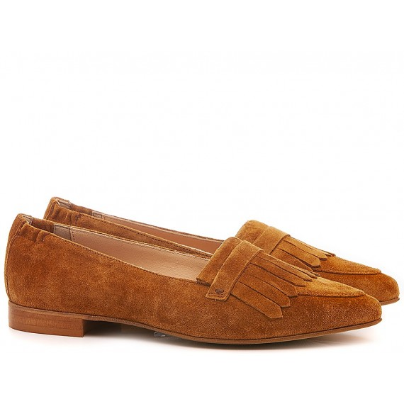 Lamica Women's Shoes Loafers Suede Rust E20 Serella
