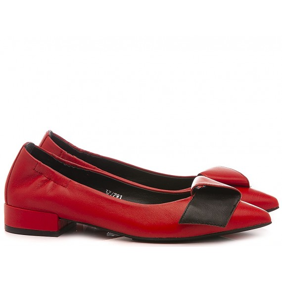 Adele Dezotti Women's Ballerina Shoes AY0404X Red