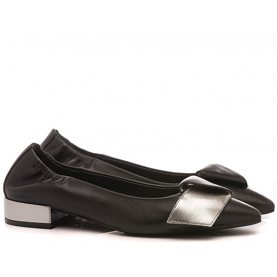 Adele Dezotti Women's Ballerina Shoes AY0404X Black