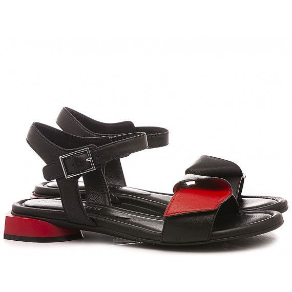Adele Dezotti Women's Sandals AY0501X Black-Red