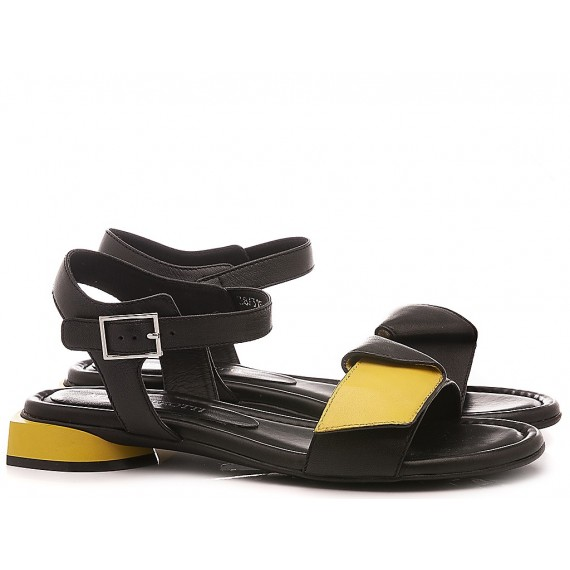 Adele Dezotti Women's Sandals AY0501X Black-Yellow