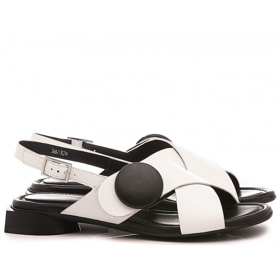 Adele Dezotti Women's Sandals AY0502X Black-White