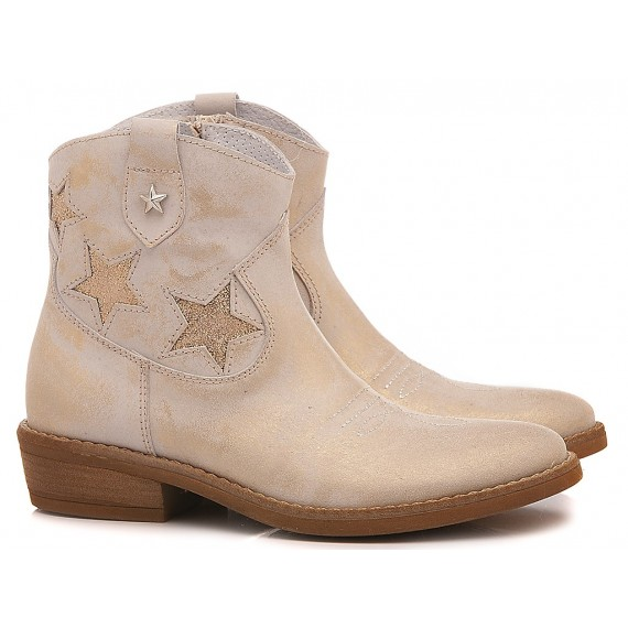 Samuel Children's Ankle Boots Leather 310 White-Salmon