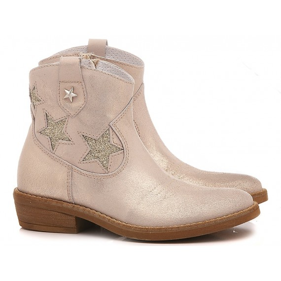 Samuel Children's Ankle Boots Leather 310 White-Platinum