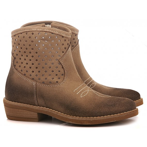 Samuel Children's Ankle Boots Suede 312 Stone