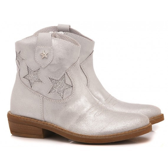 Samuel Children's Ankle Boots Leather 310 White-Silver