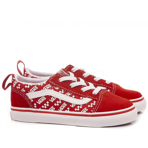 Vans Children's Sneakers Old Skool Elastic Red