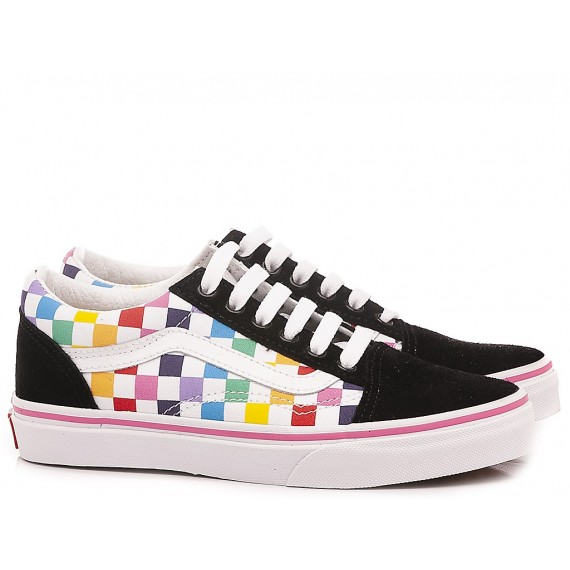 Vans Children's Sneakers Old Skool Checkerboard Reimbow