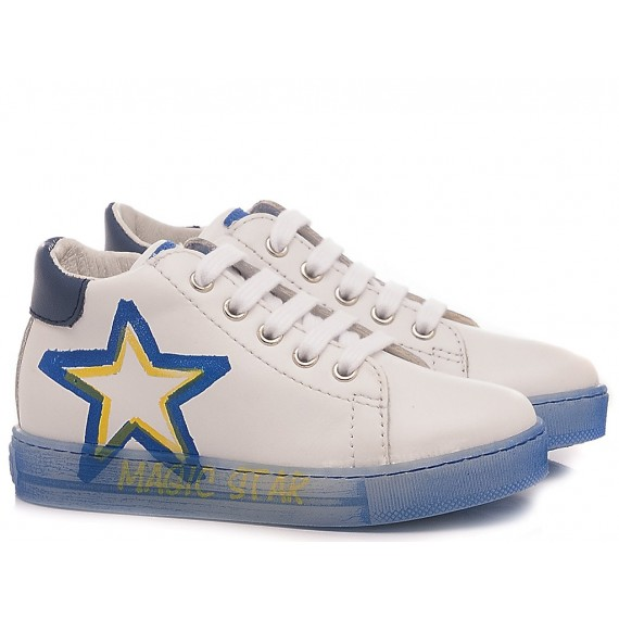 Falcotto Children's Shoes Sneakers Nedo White- Light Blue