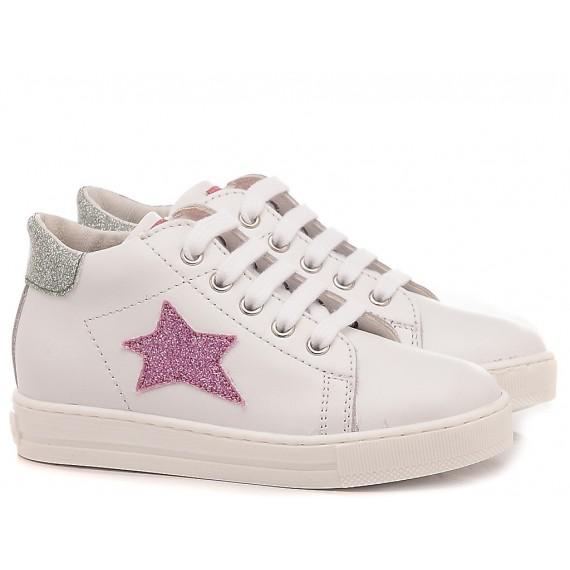 Falcotto Children's Shoes Sneakers Sasha White - Pink