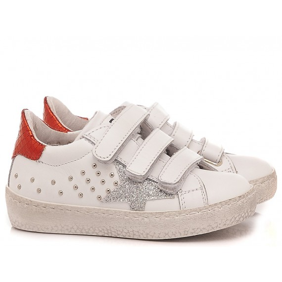 Ciao Children's Sneakers Leather White-Red C2396