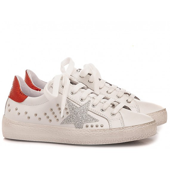 Ciao Children's Sneakers Leather White-Red C3911