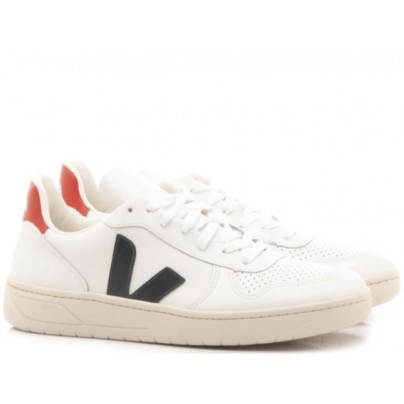 Herrenschuhe Veja V-10 Weiß VX021267