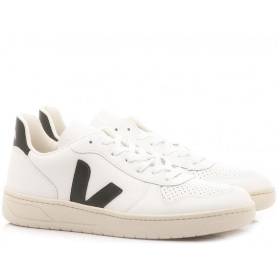 Veja Sneakers Donna V-10 White-Black VX020005
