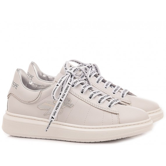 Patrizia Pepe Sneakers Bambina PPJ15.30 Bianco-Argento