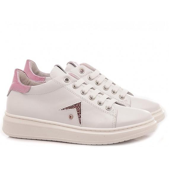 Chiara Luciani Sneakers Bambina 106 Bianco-Rosa