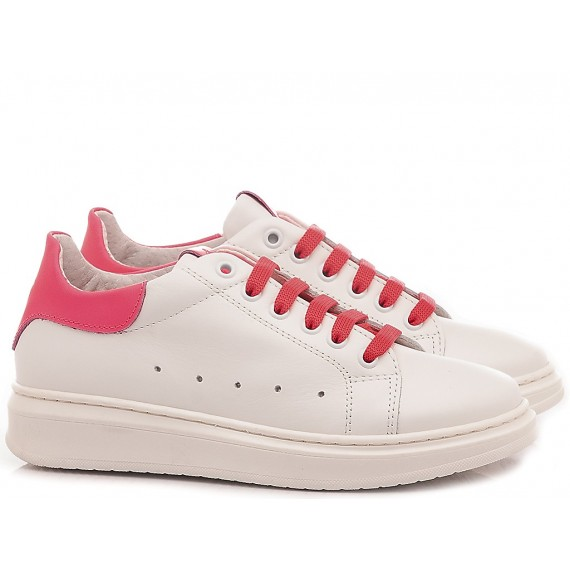 Chiara Luciani Children's Shoes Sneakers 1909 White -Fuxia