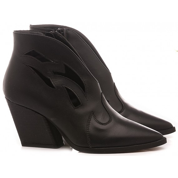 Mariga Women's Ankle Boots Leather Black 553