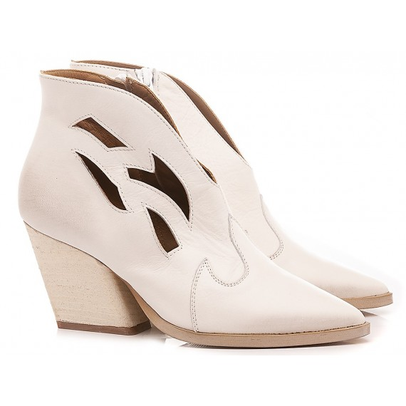 Mariga Women's Ankle Boots Leather White 553