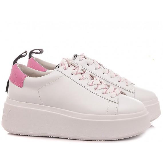 Ash Women's Sneakers Moon White-Pink