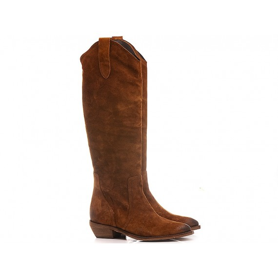Curiositè Women's Western Boots Suede 1604