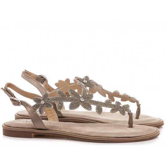 Alma En Pena Women's Shoes-Thong Sandals Low Heels V20981 Taupe