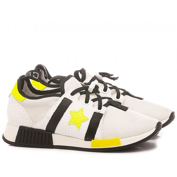 Ciao Children's Sneakers Leather White-Yellow 4694