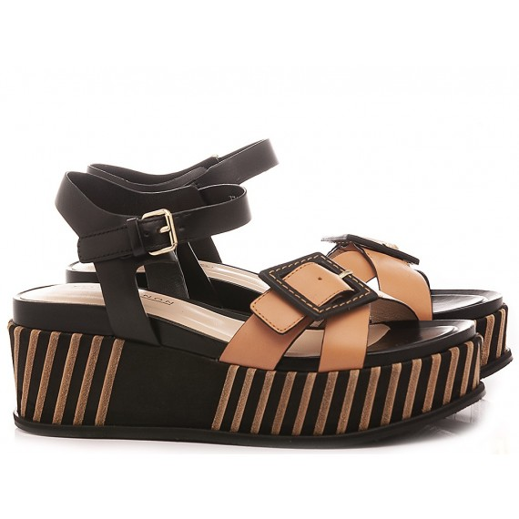 Elvio Zanon Women's Sandals EL1705X Black-Brown