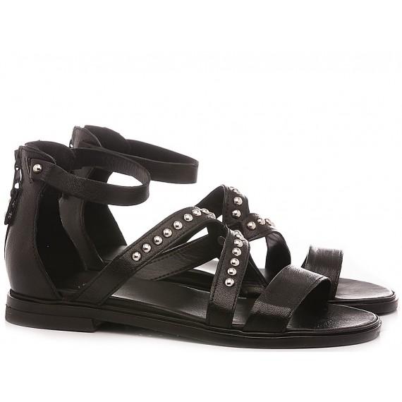 Cuir Veau Women's Sandals M05013 Black