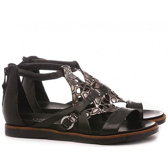 Cuir Veau Women's Sandals 740083 Black