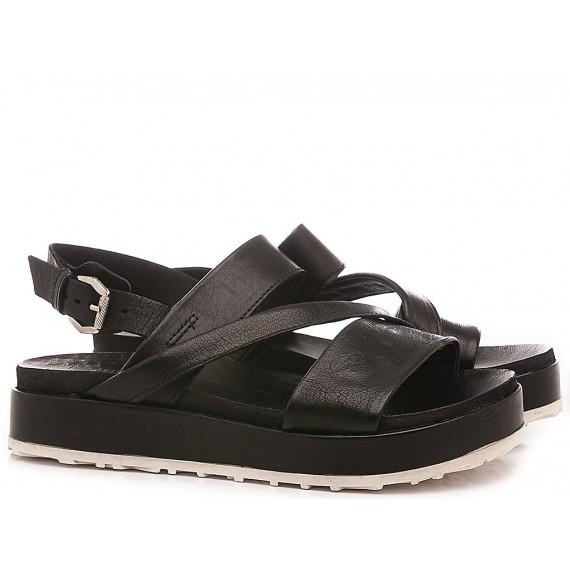 Cuir Veau Women's Sandals M06011 Black