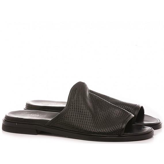 Cuir Veau Women's Slippers M05033 Black
