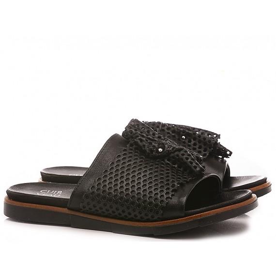 Cuir Veau Women's Slippers 740077 Black