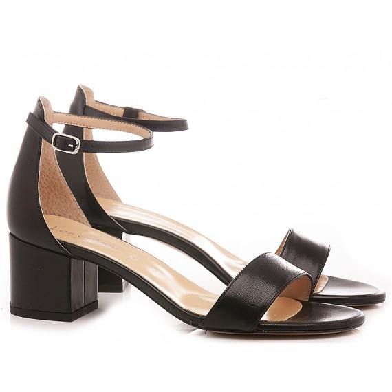 Les Autres Women's Sandals Leather Black 684