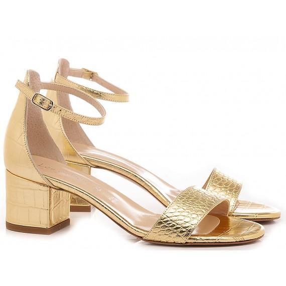 Les Autres Women's Sandals Leather Gold 692