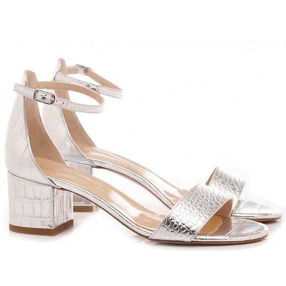 Les Autres Women's Sandals Leather Silver 692