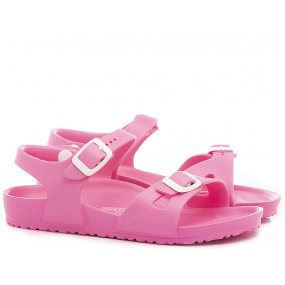 Birkenstock Girl's Sandals Rio Eva Neon Pink