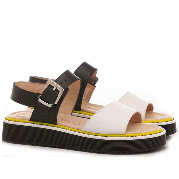 Chiara Luciani Sandalen für Mädchen 149 Weiß Schwarz