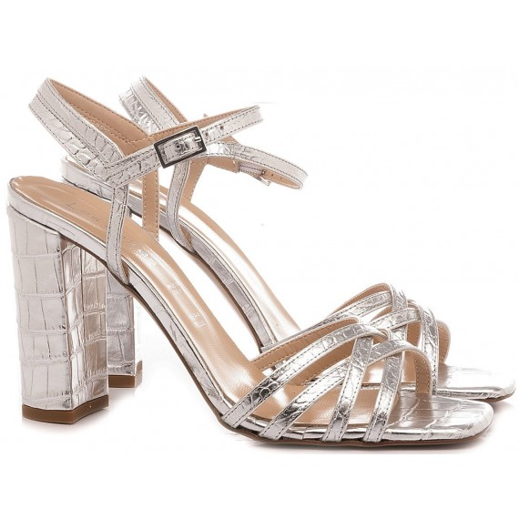 Les Autres Women's Sandals Leather Silver 1201