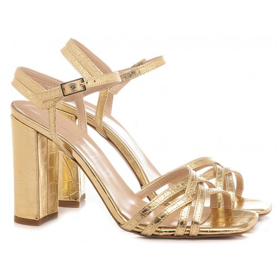 Les Autres Women's Sandals Leather Gold 1201