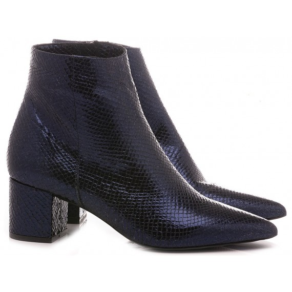 Giacko Women's Ankle Boots Leather Blue Pina50