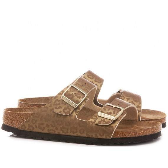 Birkenstock Women's Sandals Arizona BS Leopard Gold