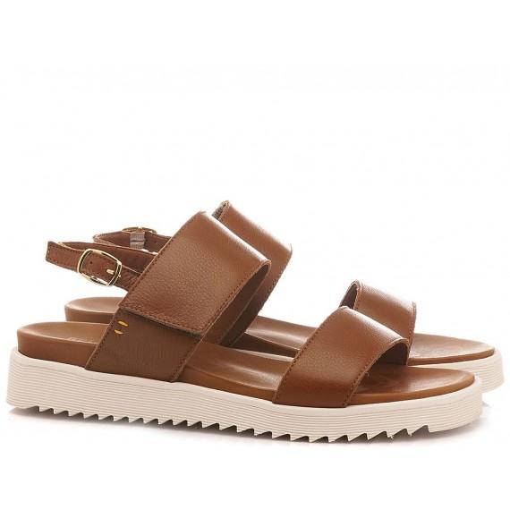 Benvado Women's Shoes-Sandals 36002029 Suede Tan