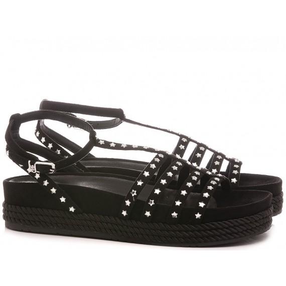 Liu.Jo Women's Sandals Patty 01 Suede Black