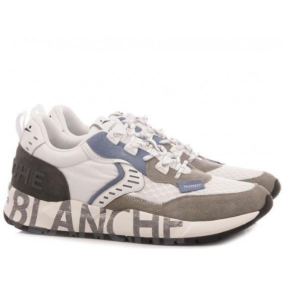 Voile Blanche Herren Turnschuhe Club01 Weiß-Grey-Jeans