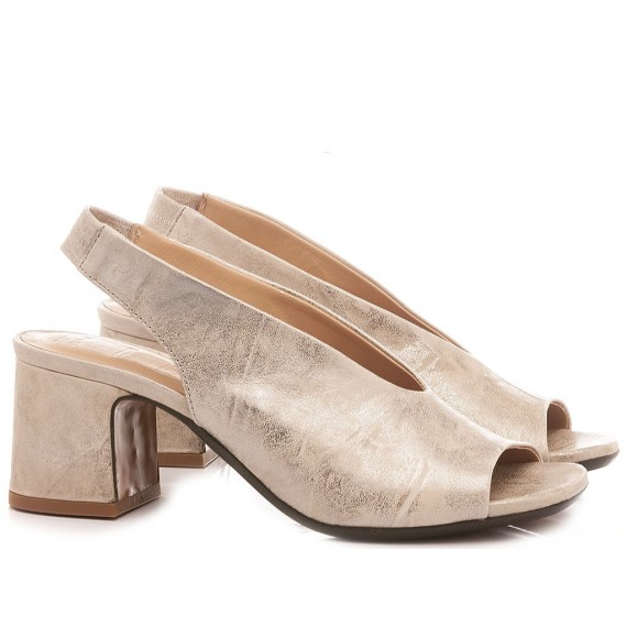 Salvador Ribes Women's Shoes Berlino Duel Metal Stone
