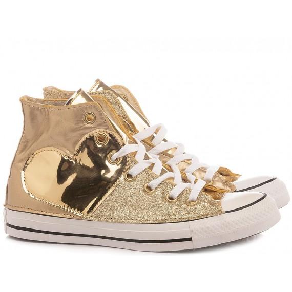 Converse All Star CTAS HI Personalisiert Mit Gold Glitzer