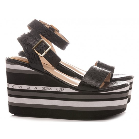 Guess Women's Shoes-Sandals Black