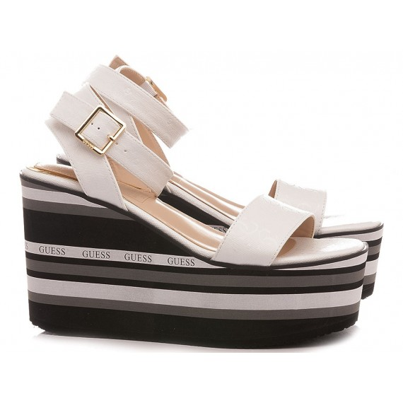 Guess Women's Shoes-Sandals White